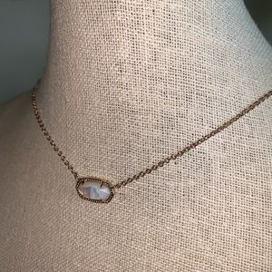 Kendra Scott necklace - rose gold